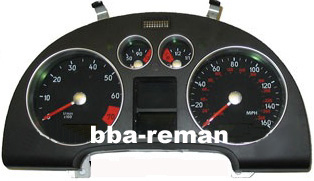 Audi TT dashboard / instrument cluster / panel / gauges failing