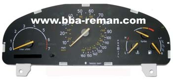 Saab 9-3 9-5 LCD pixel problems on the instrument cluster / dashboard